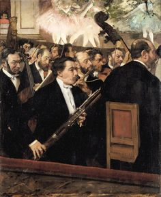The Orchestra of the Opera by Edgar Degas - #art