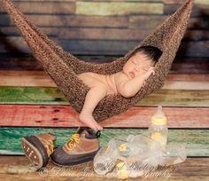 Crochet Hammock - Baby Hammock - Newborn Sling (crochet inspiration)