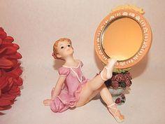 Hand Mirror Ballerina Girl Figurine Montefiori Collection Italian Design Gift