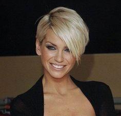 Sarah Harding latest short hairstyle