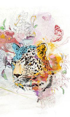 Leopard by Anna Ulyashina - illustrator, via Behance
