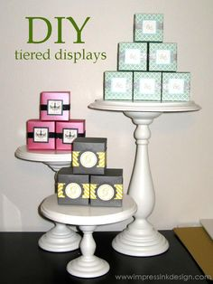 - Luvin Stampin DIY Craft Ideas diy craft show display ideas Vendor Displays, Craft Booth Displays, Display Ideas, Display Stands, Booth Ideas, Craft Booths, Shelf Display, Vendor Table, Vendor Booth