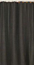 Sturbridge Black & Tan Homespun Shower Curtain Country Primitive Bath Decor Tan Shower Curtain, Black Curtains, Bath Decor, Country Primitive, Hooks, Black Curtain Tracks, Wall Hooks, Crocheting