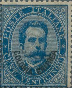 Eritrea_1893_Surcharged_Colonia_Eritrea_25c_Genuine