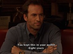 Lorelai: You kept this in your wallet?  Luke: Eight years.