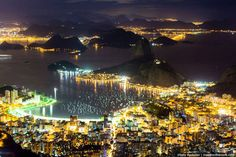 Rio de Janeiro  At night Aérienne skyline