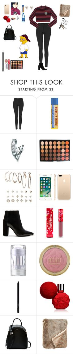 """Untitled #440"" by liazpanda ❤ liked on Polyvore featuring Topshop, Morphe, Charlotte Russe, Lime Crime, MILK MAKEUP, NARS Cosmetics, DKNY, mmm, Nordstrom and Stolen Girlfriends Club"