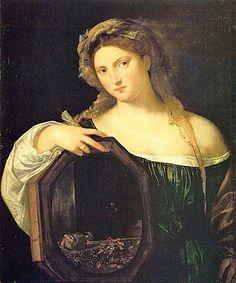 Vanity, 1514, by Titian (Tiziano Vecelli or Tiziano Vecellio) (Italian, 1488/1490–1576).