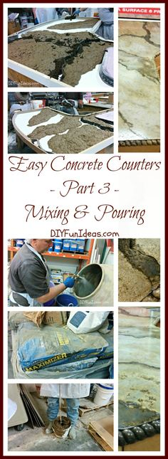 EASY TUTORIAL TO CREATE AMAZING DIY CONCRETE COUNTERTOPS - Part 3: Mixing &…