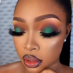 Glam by : our other page for makeup tutorials/fashion Inspiration. Makeup For Black Skin, Makeup Eye Looks, Black Girl Makeup, Sexy Makeup, Eyeshadow Looks, Girls Makeup, Glam Makeup, Gorgeous Makeup, Love Makeup