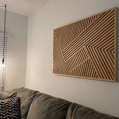 Art du bois Art de mur de bois art géométrique de bois art | Etsy