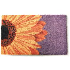 @Overstock - This vivid doormat features a multi-colored design that will liven up any doorway. Made from the highest quality coir and non-slip backing, this One Sunflower doormat is stenciled with permanent fade resistant dyes.http://www.overstock.com/Home-Garden/Beautiful-Sunflower-Non-slip-Coir-Doormat-15-x-24/5985829/product.html?CID=214117 $27.99