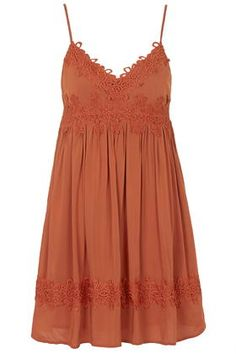 Applique Babydoll Dress
