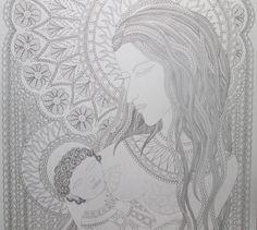 Marie matka, 10/11/2016 Autorská kresba Johana Hájková,detail, nedokončeno @johanahajkova