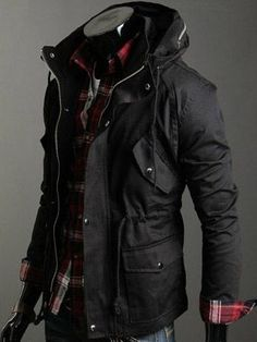 Comfy, warm, stylish and sexy. Great winter jacket for a guy | Raddest Men's Fashion Looks On The Internet: http://www.raddestlooks.org