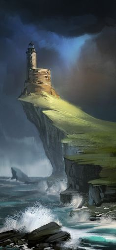 Old lighthouse, Ekaterina Yakovleva on ArtStation at https://www.artstation.com/artwork/old-lighthouse