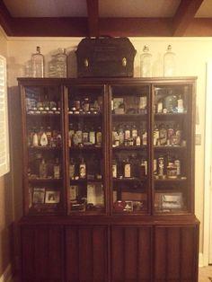 Antique embalming fluid bottles etc