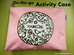On-the-go Activity Case. Great for travel, restaurants, doctors etc. What's in your nappy bag?