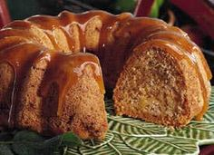 Harvest Pound Cake - Fresh apples, chopped nuts and a divine caramel sauce make a cake without equal!