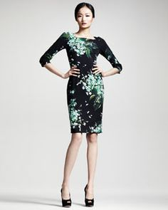 B222Z Dolce & Gabbana Lily of the Valley Print Dress