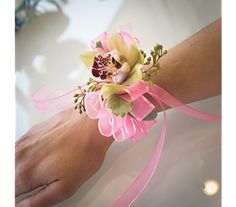 Prom Wristlets - Photo Courtesy: Floral design created by Tricia Upshaw, AIFD, AMF and Aaron Lemaster of Shirley's Flower Studio Rogers, Arkansas. Photography by Lumos Images Prom Flowers, Flower Studio, Prom Night, Freundlich, Models, Corsage, Floral Design, Rogers Arkansas, Swag