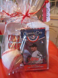 Baseball Party Favors  www.athirdsliceofpie.com