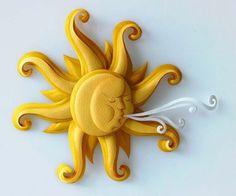 paper sun sculpture
