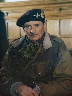 Portrait of Field Marshal Sir Bernard Montgomery on his appointment as Colonel Commandant of the Parachute Regiment, 1944.