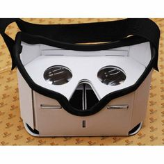 Google Cardboard Cardbord Lnette Video 3 D Gerceklik Virtual Reality Goggles 3D VR Glasses Smartphone Helmet Headset Lens VR Box