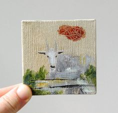mountain goat / original painting on canvas