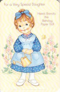 HERE'S BRENDA BIRTHDAY Greeting Paper Doll Card RARE Uncut Vintage PARAMOUNT | eBay