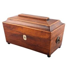 Regency Rosewood Tea Caddy c. 1820