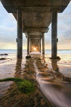 ~~T h r e a d t h e N e e d l e ~ Scripps Pier sunset, La Jolla, California by Lee Sie~~
