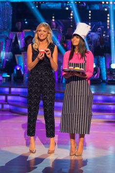 Tess Daly and Claudia Winkleman - Strictly Come Dancing 2013 - Week 9 Results Show