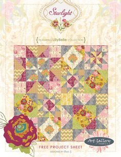 This is the free pattern by Bari J for my current favorite fabric line, Lilly Belle.  I must make this!!!