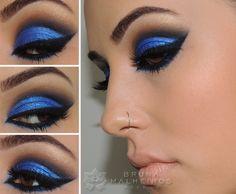 """Maquiagem Azul """"Bapho"""" para Festas ~ Bruna Malheiros Makeup"""