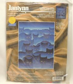 Smoky Mountain Cats Counted Cross Stitch Kit Janlynn 120-12 Pegasus 10 x13 NEW   #Janlynn #Frame