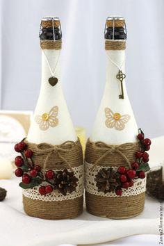 свадебные бутылки джут - Поиск в Google