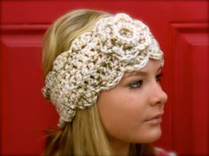 chunky crochet head warmer.  This just may persuade me to cross over from knitting to crocheting. LOVE
