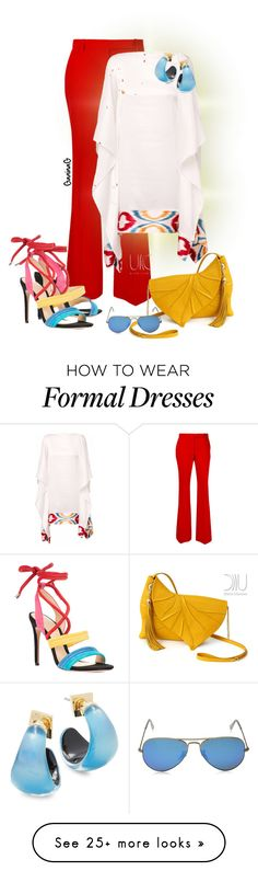 """""""Summer Formal"""" by ganing on Polyvore featuring Alexander McQueen, Lemiché, Alexandre Birman, Alexis Bittar, Ray-Ban and outfit"""