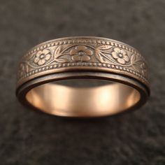 petunia ring in 14k rose gold