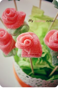 My cooking notes: Ramo de chuches - flowers with sweets
