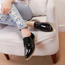PROMOCIÓN! 2014 zapatos calientes de Oxford planas genuina charol plantilla suave zapatos de las mujeres de la moda de estilo de muy buen gusto zapatos oxford para mujeres(China (Mainland))