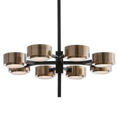 Robson Modern Classic Bronze Spoke Antique Brass Pendant | Kathy Kuo Home