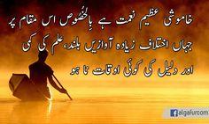 خاموشی عظیم نعمت ہے بِالْخُصُوص اس مقام پر جہاں اختلاف زیادہ آوازیں بلند، علم کی کمی اور دلیل کی کوئی اوقات نا ہو  #pakistan #urdu #urdu_quotes #islamic_quotes #urdu_hadith #hadith