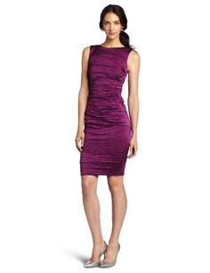 Nicole Miller Women S Matte Pleated Metal Sheath Dress Byzantium 2 Http