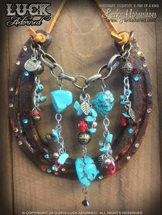 LUCKY HORSESHOE decorated horseshoe rustic rustic by LuckAdorned