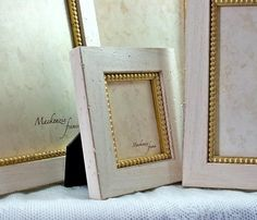 3x4 Warm White and Gold Photo Frame for Tiny by mackenzieframes, $30.00
