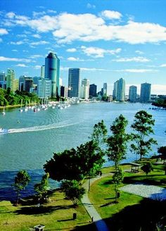 Brisbane, Australia, an older city skyline now dwarfed by new high rises Places Around The World, The Places Youll Go, Travel Around The World, Places To See, Around The Worlds, Sydney, Melbourne, Queensland Australia, Australia Travel