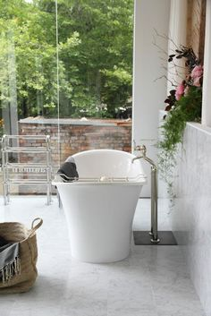 Creative Tonic loves this freestanding tub and the beautiful Perrin and Rowe plumbing fixtures!